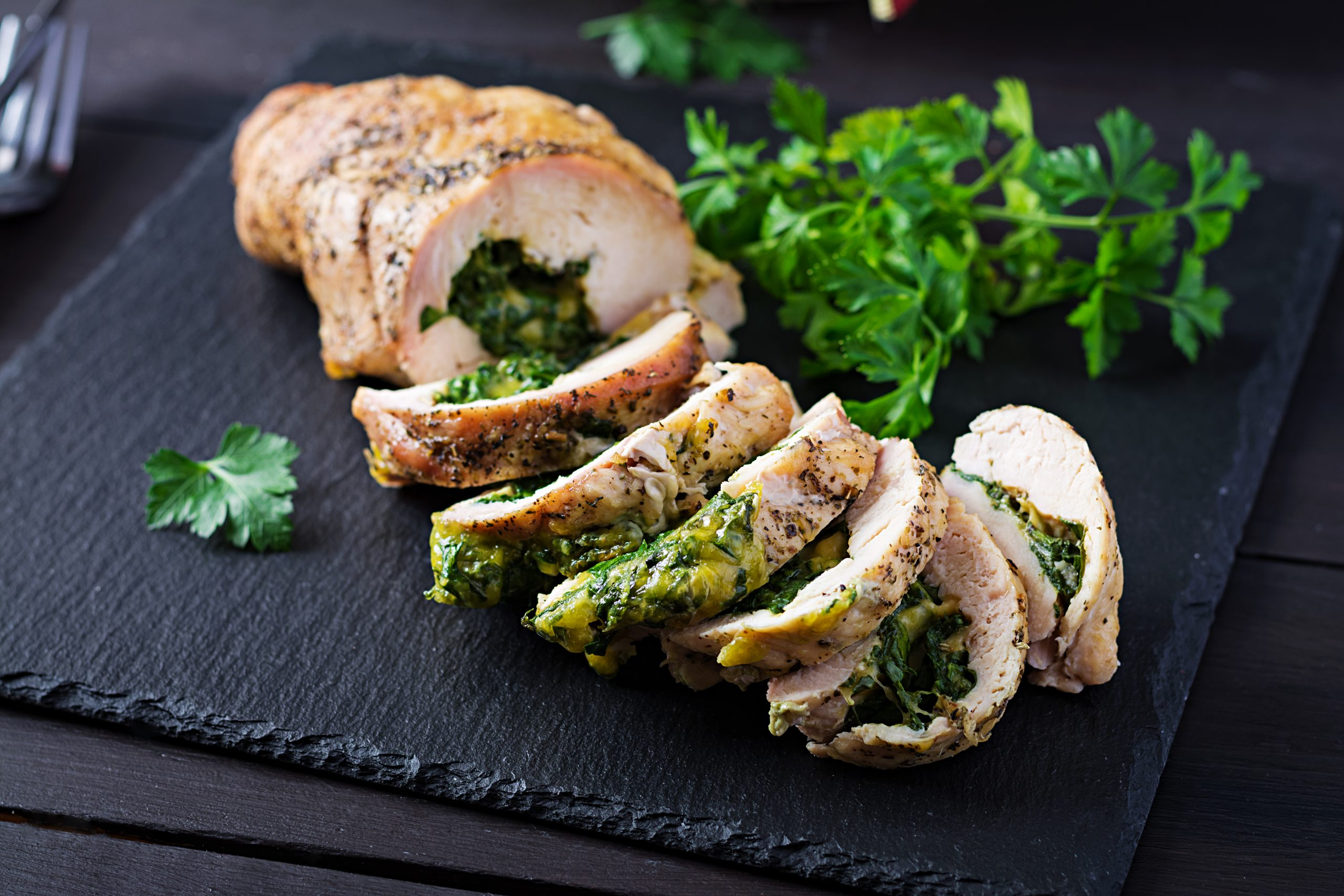 Garlic and Herb Turkey Breast Roll